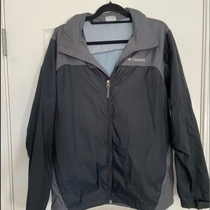 Grey Colombia Rain Jacket (W/ Hood)